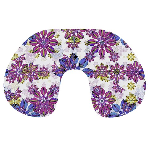 Stylized Floral Ornate Pattern Travel Neck Pillows
