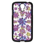 Stylized Floral Ornate Pattern Samsung Galaxy S4 I9500/ I9505 Case (Black) Front