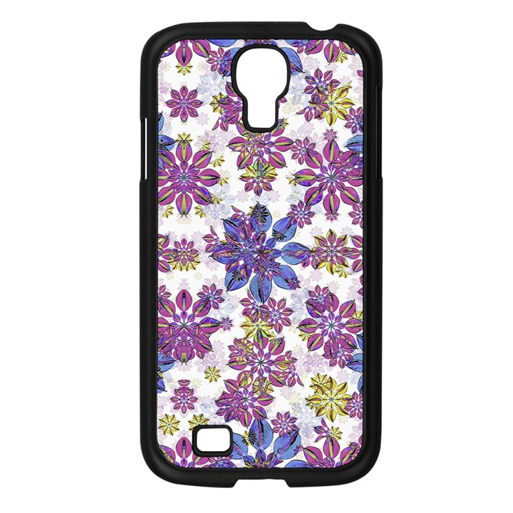 Stylized Floral Ornate Pattern Samsung Galaxy S4 I9500/ I9505 Case (Black)