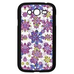 Stylized Floral Ornate Pattern Samsung Galaxy Grand DUOS I9082 Case (Black) Front
