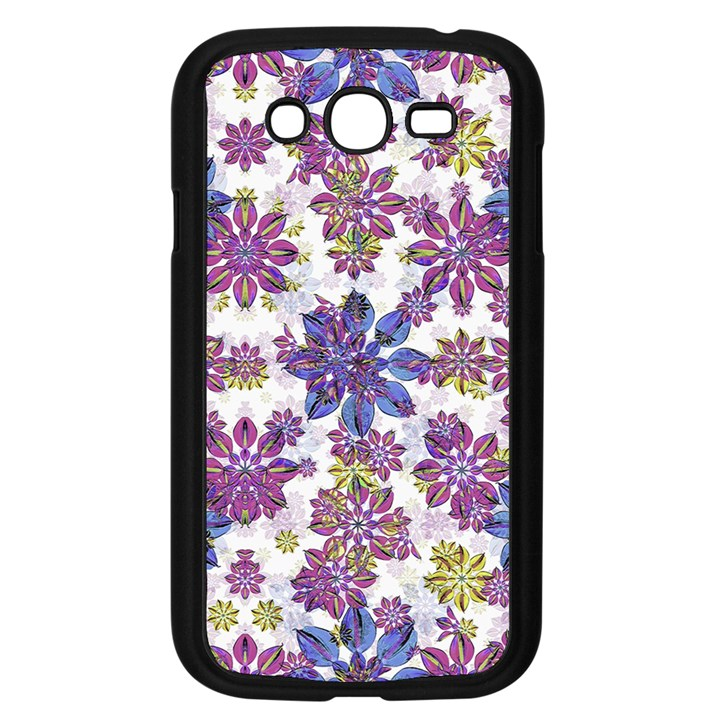 Stylized Floral Ornate Pattern Samsung Galaxy Grand DUOS I9082 Case (Black)
