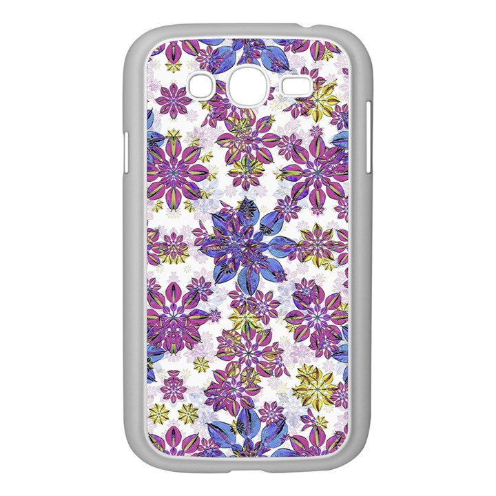 Stylized Floral Ornate Pattern Samsung Galaxy Grand DUOS I9082 Case (White)