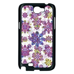 Stylized Floral Ornate Pattern Samsung Galaxy Note 2 Case (Black)