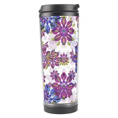 Stylized Floral Ornate Pattern Travel Tumbler
