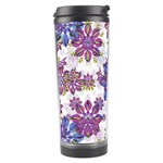 Stylized Floral Ornate Pattern Travel Tumbler Left