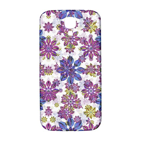Stylized Floral Ornate Pattern Samsung Galaxy S4 I9500/I9505  Hardshell Back Case