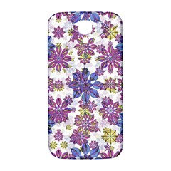 Stylized Floral Ornate Pattern Samsung Galaxy S4 I9500/I9505  Hardshell Back Case