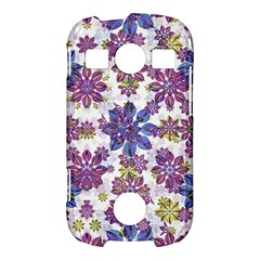 Stylized Floral Ornate Pattern Samsung Galaxy S7710 Xcover 2 Hardshell Case