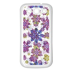 Stylized Floral Ornate Pattern Samsung Galaxy S3 Back Case (white)