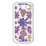 Stylized Floral Ornate Pattern Samsung Galaxy S3 Back Case (White) Front
