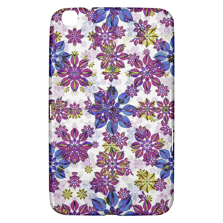 Stylized Floral Ornate Pattern Samsung Galaxy Tab 3 (8 ) T3100 Hardshell Case