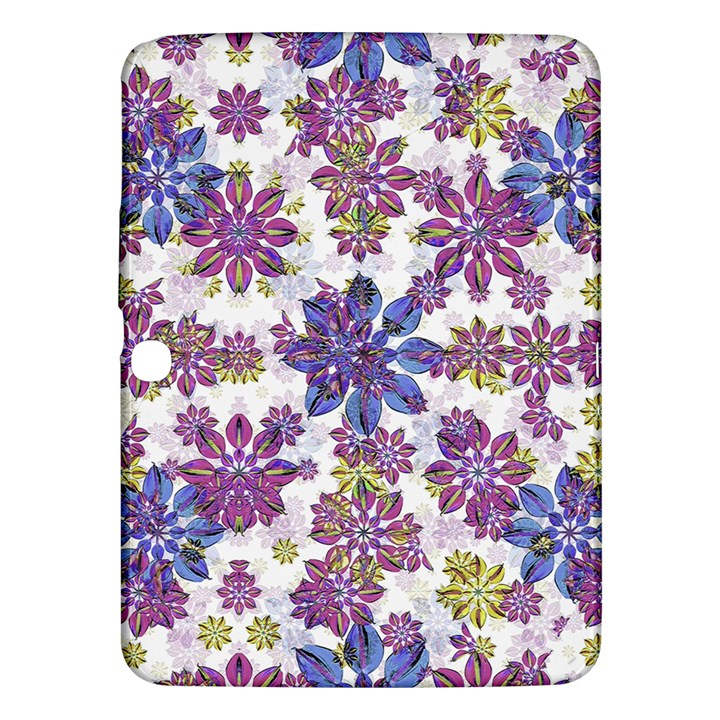 Stylized Floral Ornate Pattern Samsung Galaxy Tab 3 (10.1 ) P5200 Hardshell Case