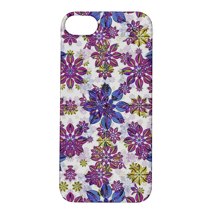 Stylized Floral Ornate Pattern Apple iPhone 5S/ SE Hardshell Case