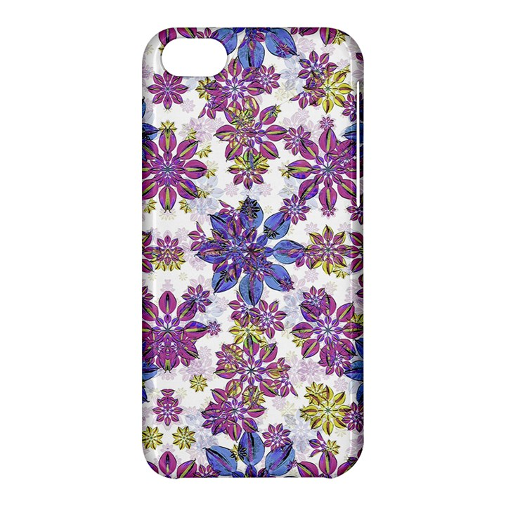 Stylized Floral Ornate Pattern Apple iPhone 5C Hardshell Case