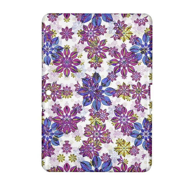 Stylized Floral Ornate Pattern Samsung Galaxy Tab 2 (10.1 ) P5100 Hardshell Case