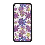 Stylized Floral Ornate Pattern Apple iPhone 5C Seamless Case (Black) Front