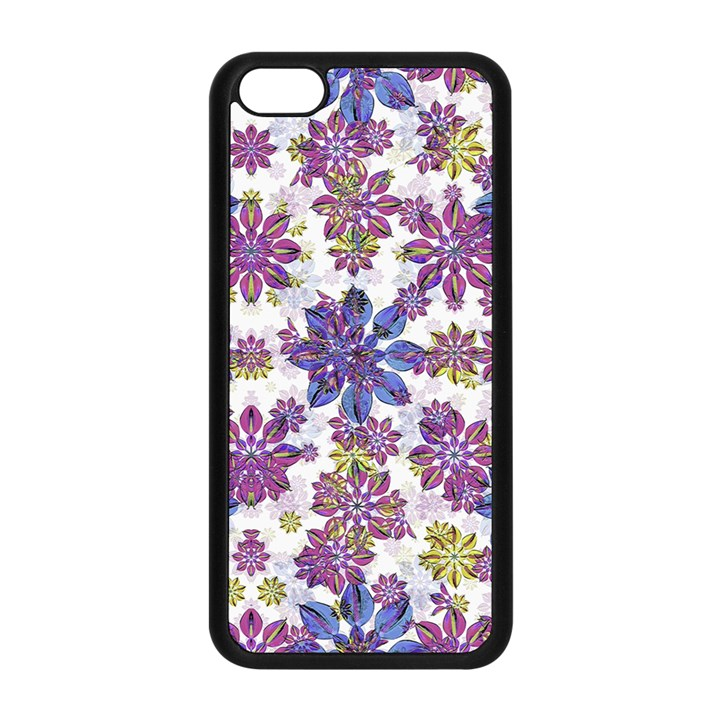 Stylized Floral Ornate Pattern Apple iPhone 5C Seamless Case (Black)