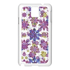 Stylized Floral Ornate Pattern Samsung Galaxy Note 3 N9005 Case (White)