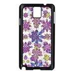 Stylized Floral Ornate Pattern Samsung Galaxy Note 3 N9005 Case (Black) Front