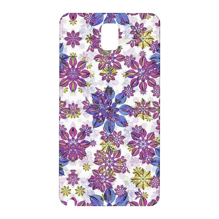 Stylized Floral Ornate Pattern Samsung Galaxy Note 3 N9005 Hardshell Back Case