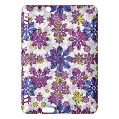 Stylized Floral Ornate Pattern Kindle Fire Hdx Hardshell Case