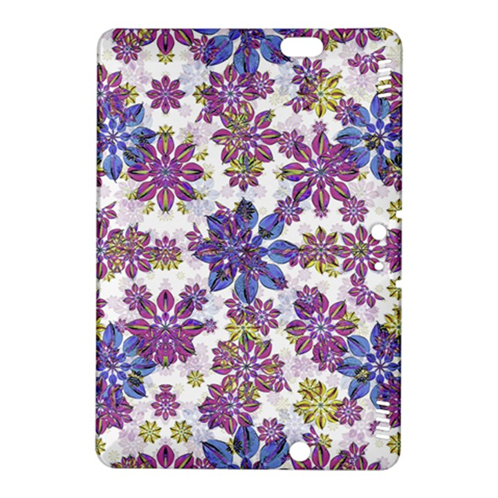 Stylized Floral Ornate Pattern Kindle Fire HDX 8.9  Hardshell Case