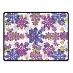 Stylized Floral Ornate Pattern Double Sided Fleece Blanket (Small)  50 x40 Blanket Front