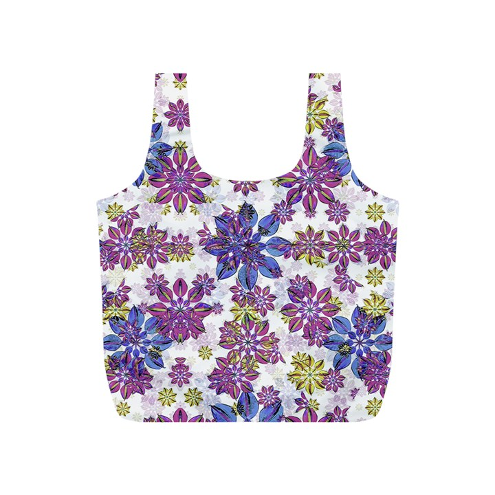 Stylized Floral Ornate Pattern Full Print Recycle Bags (S)