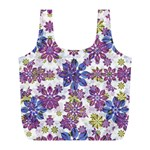 Stylized Floral Ornate Pattern Full Print Recycle Bags (L)  Front
