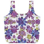Stylized Floral Ornate Pattern Full Print Recycle Bags (L)  Back