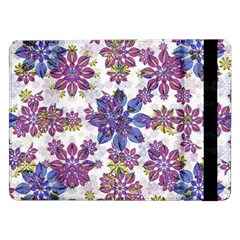 Stylized Floral Ornate Pattern Samsung Galaxy Tab Pro 12 2  Flip Case