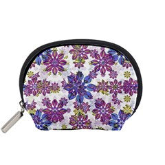 Stylized Floral Ornate Pattern Accessory Pouches (Small)