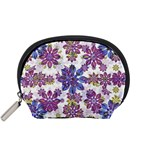 Stylized Floral Ornate Pattern Accessory Pouches (Small)  Front