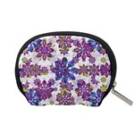 Stylized Floral Ornate Pattern Accessory Pouches (Small)  Back