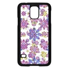 Stylized Floral Ornate Pattern Samsung Galaxy S5 Case (Black)