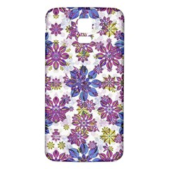 Stylized Floral Ornate Pattern Samsung Galaxy S5 Back Case (white)