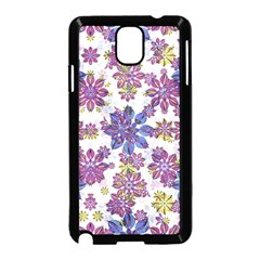 Stylized Floral Ornate Pattern Samsung Galaxy Note 3 Neo Hardshell Case (Black)