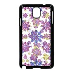 Stylized Floral Ornate Pattern Samsung Galaxy Note 3 Neo Hardshell Case (Black) Front