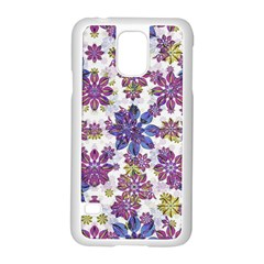Stylized Floral Ornate Pattern Samsung Galaxy S5 Case (White)