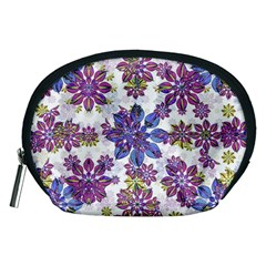 Stylized Floral Ornate Pattern Accessory Pouches (Medium)