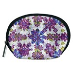 Stylized Floral Ornate Pattern Accessory Pouches (Medium)  Front