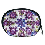 Stylized Floral Ornate Pattern Accessory Pouches (Medium)  Back