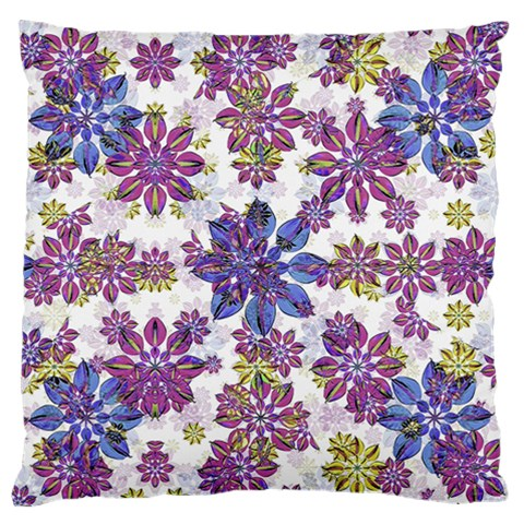 Stylized Floral Ornate Pattern Large Flano Cushion Case (One Side)
