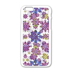Stylized Floral Ornate Pattern Apple iPhone 6/6S White Enamel Case