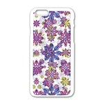 Stylized Floral Ornate Pattern Apple iPhone 6/6S White Enamel Case Front