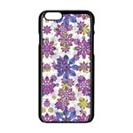 Stylized Floral Ornate Pattern Apple iPhone 6/6S Black Enamel Case Front