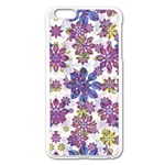 Stylized Floral Ornate Pattern Apple iPhone 6 Plus/6S Plus Enamel White Case Front