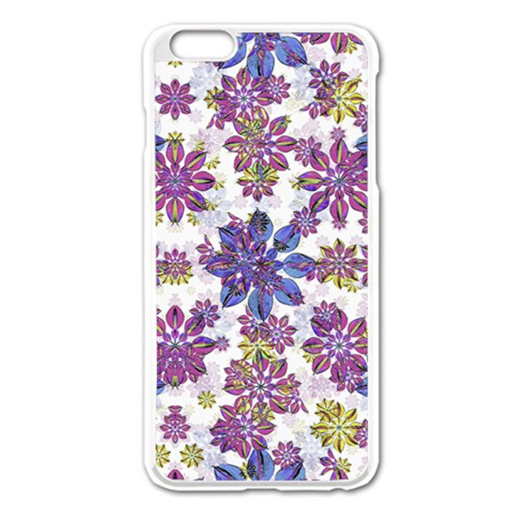 Stylized Floral Ornate Pattern Apple iPhone 6 Plus/6S Plus Enamel White Case