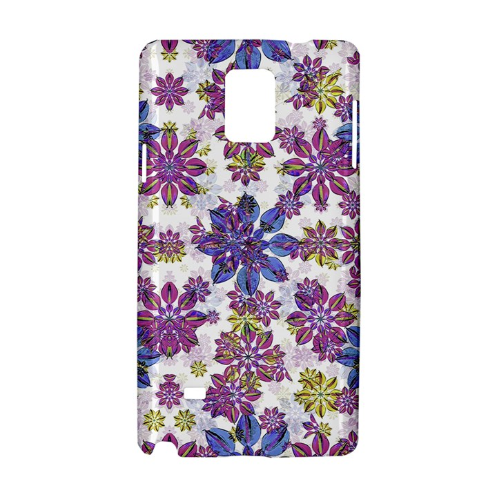 Stylized Floral Ornate Pattern Samsung Galaxy Note 4 Hardshell Case