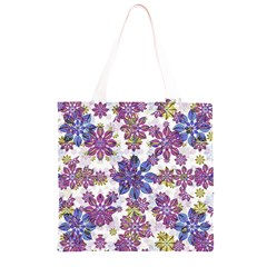Stylized Floral Ornate Pattern Grocery Light Tote Bag